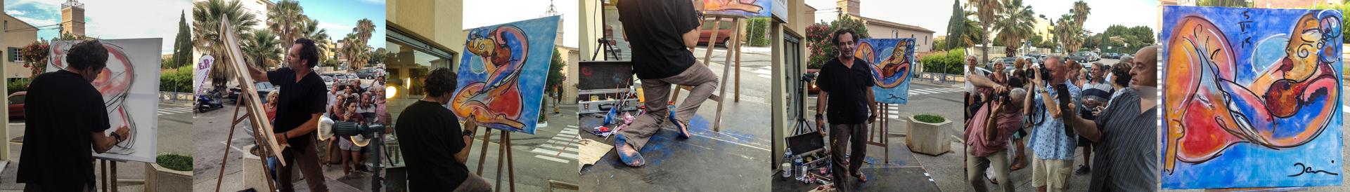 Live painting à Saint-Mandrier